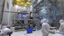 Préparation de l'ATV-5 George Lemaître au Centre Spatial Guyanais