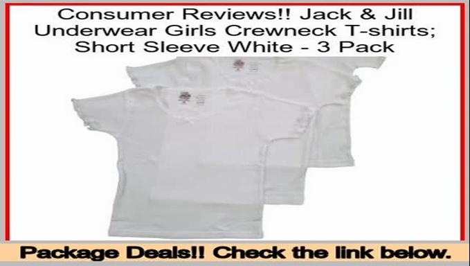 Top Rated Jack & Jill Underwear Girls Crewneck T-shirts; Short Sleeve White – 3 Pack