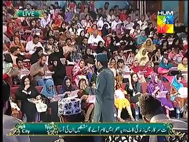 """Khawar Naqshbandi Reciting Kalam at Jashn e Ramzan HUM TV SHOW """"25 July 2014"""""""