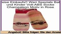 Spiel Weri Spezials Baby und Kinder Voll-ABS Socke Chamealeon Motiv in Rose