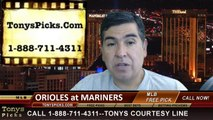 MLB Pick Seattle Mariners vs. Baltimore Orioles Odds Prediction Preview 7-25-2014