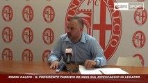 Icaro Sport. Rimini Calcio: De Meis: 'il Rimini non rinuncia al ripescaggio'