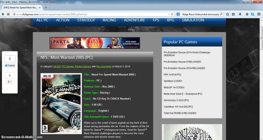 Free Download NFS Most Wanted 2005 Full Game PC
