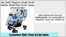 Low Prices Elegance Single Stroller Weather Shield Rain Cover Canopy Universal Size