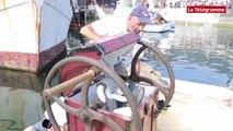 Temps Fête sur Douarnenez. Démonstration de plongée en scaphandriers pieds-lourds