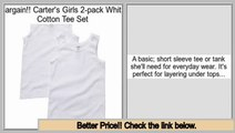 Comparison Shopping Carter's Girls 2-pack White Cotton Tee Set