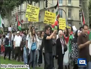 People Across The World Stage Protest Against Israeli Aggression On Gaza