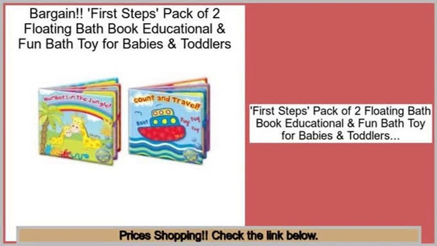 First Steps Floating Bath Books Educational /& Fun Bath Toy for Baby Count Travel
