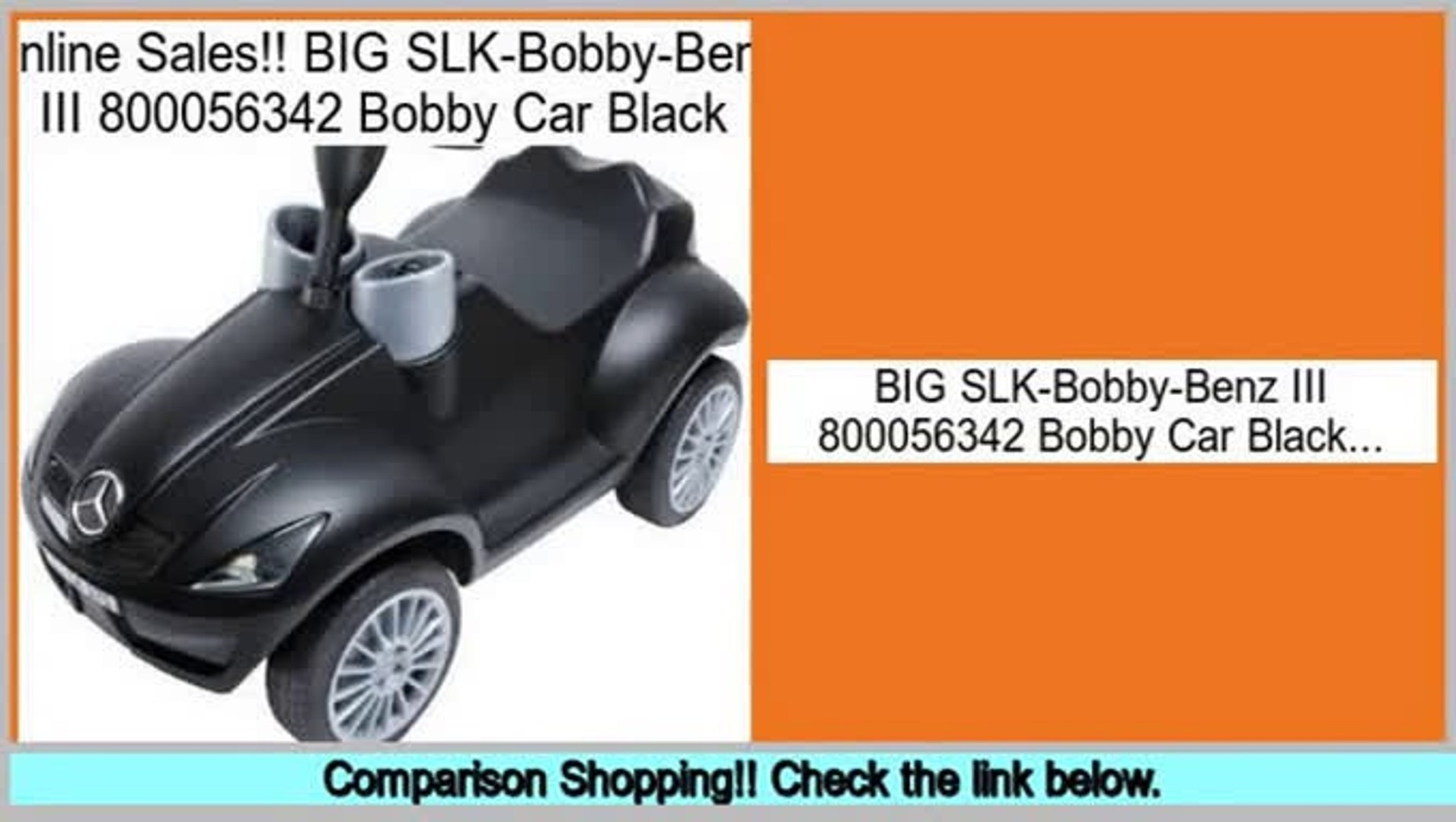 Best Brands BIG SLK-Bobby-Benz III 800056342 Bobby Car Black
