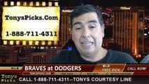 MLB Pick LA Dodgers vs. Atlanta Braves Odds Prediction Preview 7-30-2014