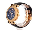 Versace Men's 23C80D008 S009 V-Race 18k Rose-Gold Plated Stainless Steel and Black Leather Watch