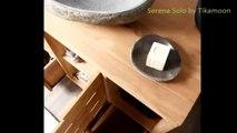 Meuble de salle de bain teck Serena Solo par Tikamoon
