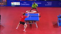 Tennis de table : Segun Toriola vs Ning Gao (41 échanges)