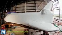 Space Shuttle Atlantis Wrapped in Shrink Wrap for Safe Keeping