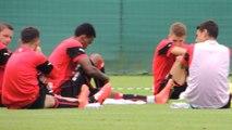 29/07/14 : séance d'étirements du Stade Rennais
