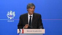Point de presse de Stéphane Le Foll, porte-parole du Gouvernement, le mercredi 30 juillet