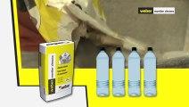 appliquer un mortier de maçonnerie à prise ultra- rapide Weber ( weber mortier chrono)