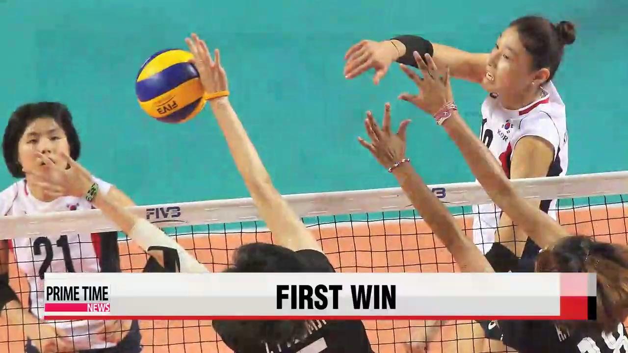 Korea's women's volleyball wins first match of World Grand Prix