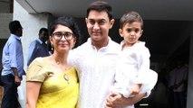 Aamir Khan Eid Celebrations With Family   Kiran Rao, Aamir Khan, Azad Rao Khan