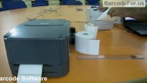 Design and print 2D barcode labels with thermal printer