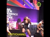Tiwa Savage performing with the ceo dancers at the Music around the globe event.