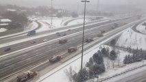 Snowplows Clearing Highway in Toronto