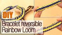 Faire un bracelet réversible en élastiques Rainbow Loom - Tuto DIY