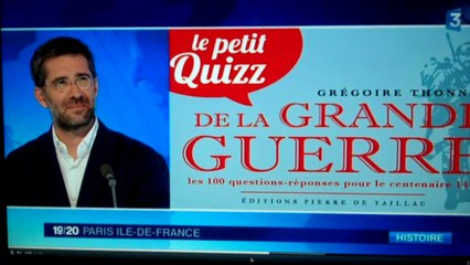 ITW du 1 er août  2014 - 19- 20 Journal télévisé de France 3 IDF