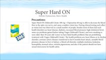 Super Hard On (Sildenafil Citrate 100 mg + Dapoxetine 60 mg)
