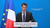 """Manuel Valls annonce une """"rentrée difficile"""""""