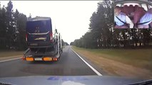 Awesome hit and run between russian cops and drunk truck driver. So violent...