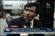 Peruanos entrevistados en calle aborrecen la masacre israelí en Gaza