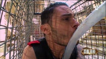 Baptiste Giabiconi n'aime pas les tigres de Fort Boyard (Vidéo)