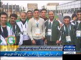 Boxer Amir Khan was there in Glasgow to support Pakistani Players specially Boxer Mohammad Waseem