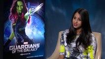 Zoe Saldana on being green in Guardians of the Galaxy