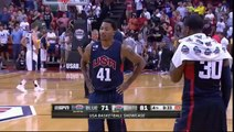 Paul George, basketteur de la NBA, se brise la jambe en plein match