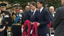 Cameron, Clegg and Miliband lay WW1 wreaths in Glasgow
