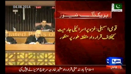 National assembly unanimously condemns Israel for attacking Gaza and Killing innocent Palestinians.