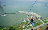 Devinsupertramp presents Worlds Largest Urban Zipline - BASE Jump