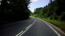 Szlovákia, 59-es út, 5. rész   Slovakia, road 59, part 5    Suzuki GS 500F