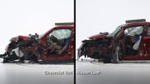 Post-crash comparisons - Mini Cooper Countryman vs Fiat 500L and Chevrolet Volt vs Nissan Leaf