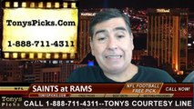 St Louis Rams vs. New Orleans Saints Pick Prediction NFL Preseason Pro Football Odds Preview 8-8-2014