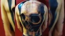 3D Skull Tattoo Designs - Best 3D Tattoos - Awesome Tattoos - Amazing Tattoo Ideas