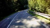Tátra, 14-es út kanyarjai   Curves of road 14 in Tatra mountains    Suzuki GSX 650F