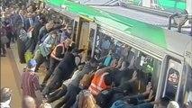 Accident de métro en Australie : les passagers poussent le métro pour libérer la jambe du blessé!