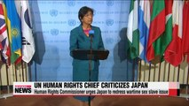 UN High Commissioner for Human Rights Pillay criticizes Japan for failing to redress wartime sex slave issue