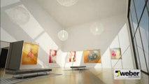 Béton ciré sol coulé minéral décoratif Weber (weber floor 4650)