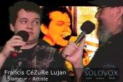 SoloVox poésie musique slam - 20 - Anaël Parolier - Francis CéZuRe Lujan