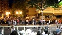 Féria Alès 2014 - Encierro manade Lafon place de la cathédrale à Alès