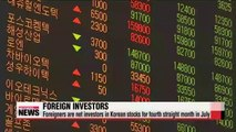 Foreign investors dive into Korean stocks for 4th straight month
